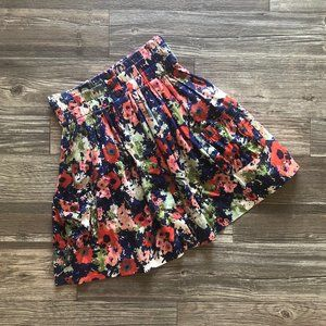 Anthropologie Parameter High-Waisted Floral Skirt